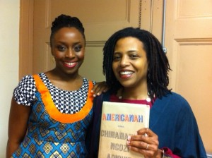 Chimamanda Ngozi Adichie & Ms. Meltingpot in 2013
