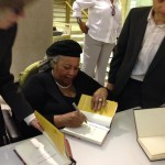 Toni Morrison in Philly, signing my book. #Authorswoon